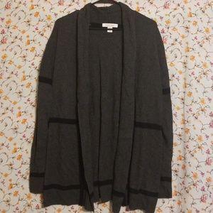Gray & Black Cardigan Sweater